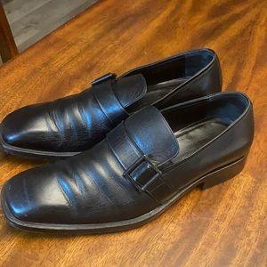 AUTHENTICATED : VTG. Gucci leather men's shoes .